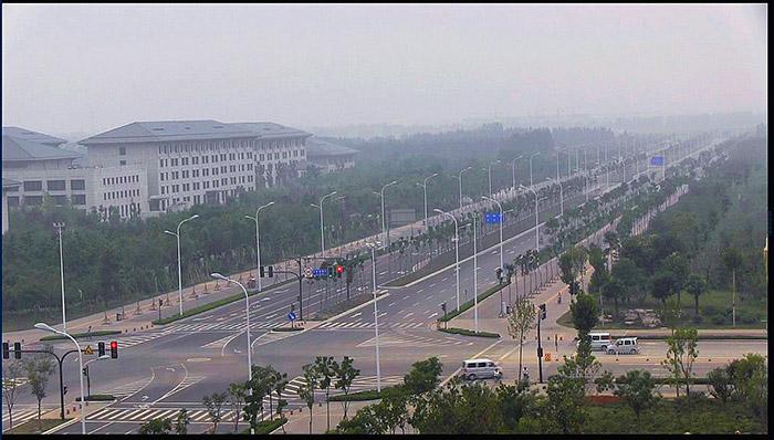 淄博新城区中润大道与北京路交叉口交通组织